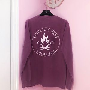 AOII Purple Comfort Colors Long Sleeved Crewneck